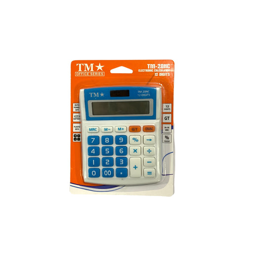 Tm Calculator 12 Digits Tm-20nc Blue-Master Square