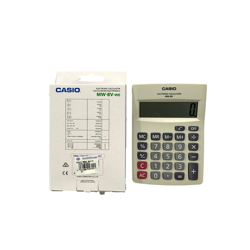 Original Casio Calculator Mw-8v-Master Square