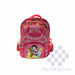 School Backpack 810 3 Zipper With Side Pockets Disney Princess In Pink 16 X 12.5 X 7 In-Master Square