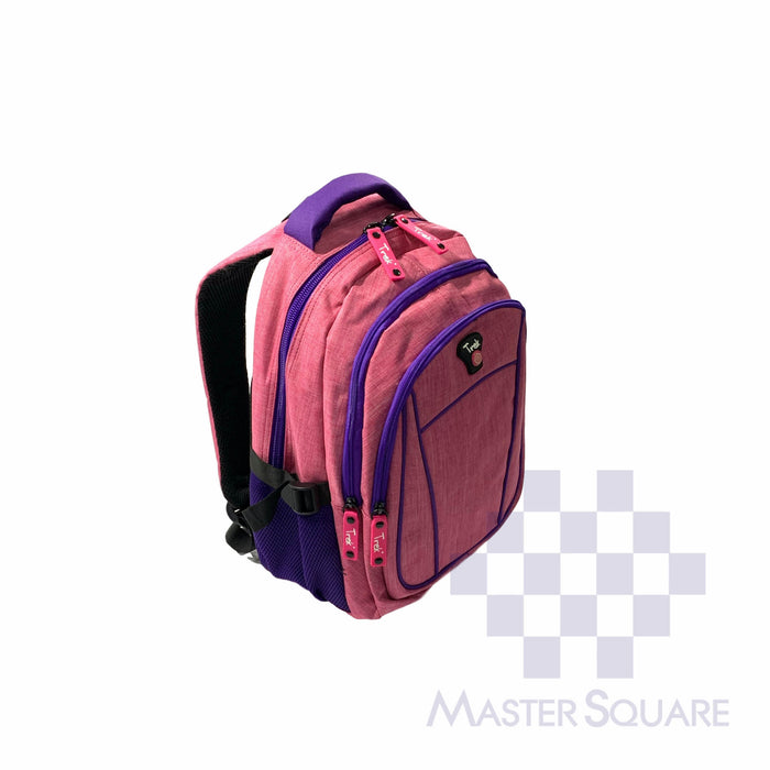 Trek Backpack Trou12 Light Weight 3 Zipper 17 X 13 X 7 In-Master Square