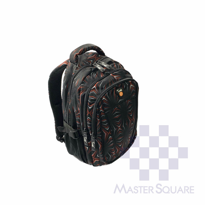 Trek Backpack Trou09 Light Weight 3 Zipper 17 X 13 X 7 In-Master Square