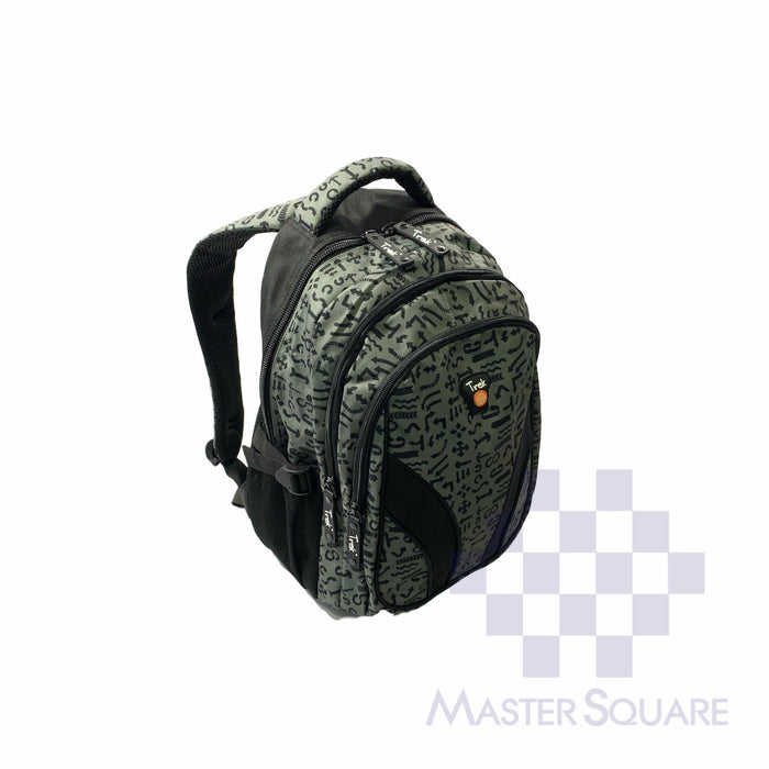 Trek Backpack Trou02 Light Weight 3 Zipper 17 X 13 X 7 In-Master Square