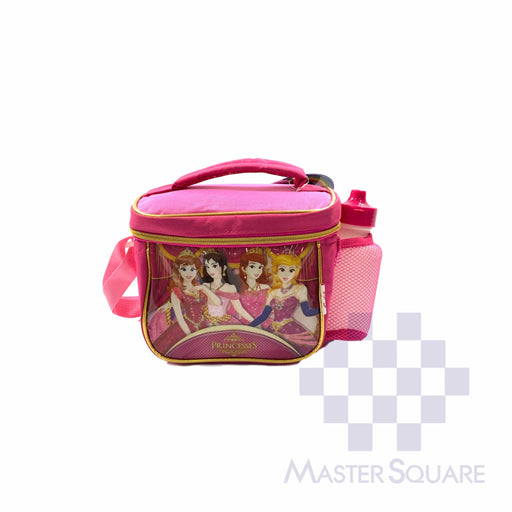 Lunch Bag 2005lb With Shoulder Strap And Tumbler Princess In Pink 6.5 X 8.5 X 6 In-Master Square