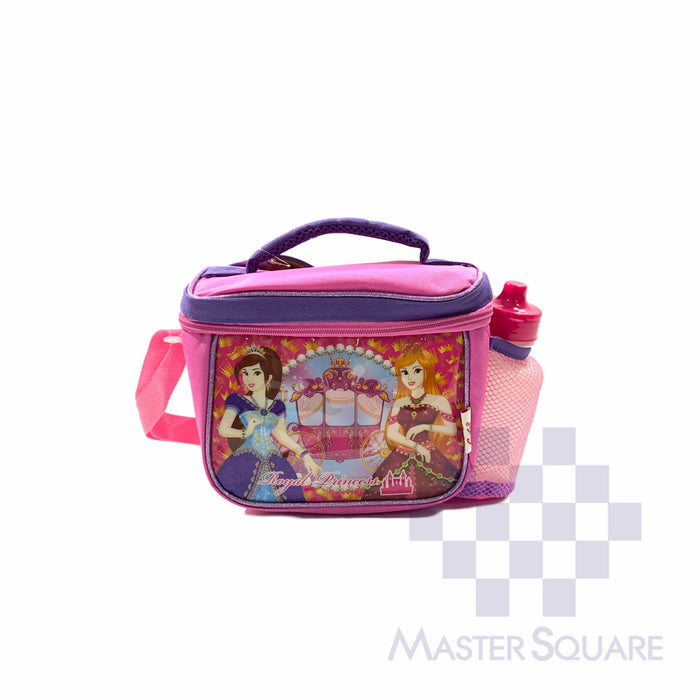 Lunch Bag 2012lb With Shoulder Strap And Tumbler Princess In Pink 6.5 X 8.5 X 6 In-Master Square