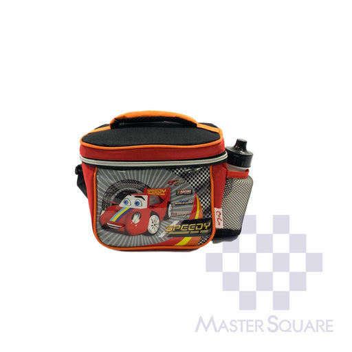 Lunch Bag 2059lb With Shoulder Strap And Tumbler Cars In Red 6.5 X 8.5 X 6 In-Master Square