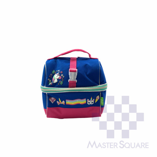 Lunch Bag Fbou08lb With Tumbler Unicorn In Blue 9 X 8.5 X 6 In-Master Square