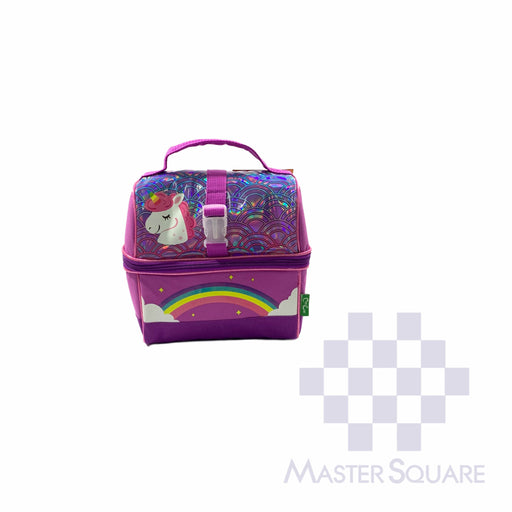 Lunch Bag Fbou09lb With Tumbler Unicorn In Purple 9 X 8.5 X 6 In-Master Square