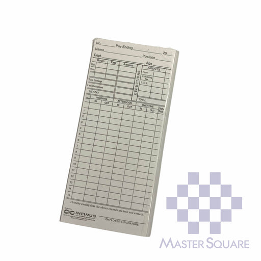 Dtr Daily Time Record Card Pack Of 10-Master Square