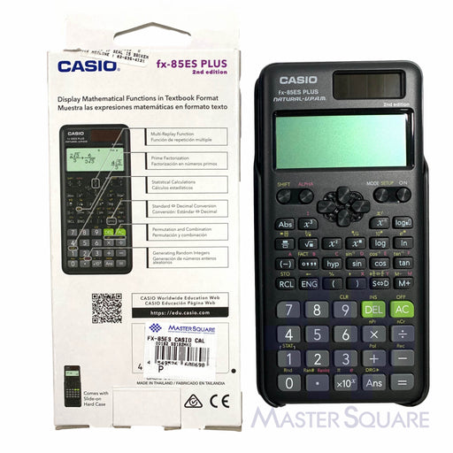 Original Casio Fx-85es Plus 2nd Edition Natural Textbook Display 252 Functions-Master Square