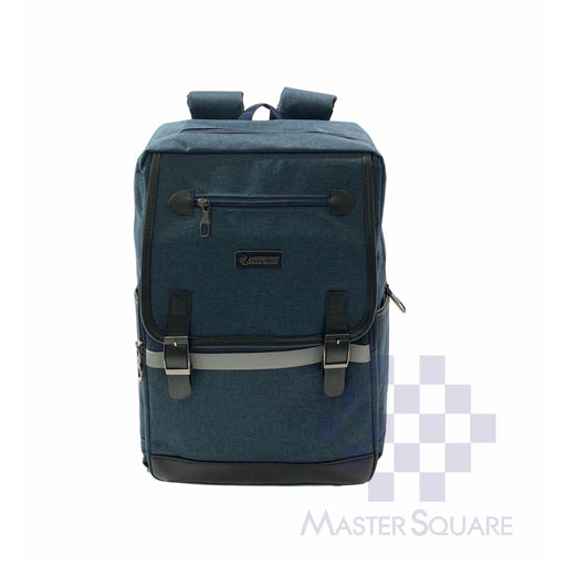 Latitude Backpack Fb0u727 3 Zipper With Side Pockets Blue 17 X 12 X 5 In-Master Square