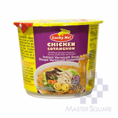 Lucky Me Sotanghon Soup Chicken 28g-Master Square