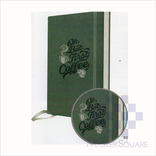Spring Leaf Hardbound Bookbind Notebook 148 X 210 Mm 120lvs Coffee Design 2-Master Square