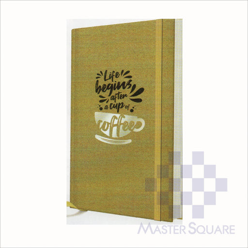 Spring Leaf Hardbound Bookbind Notebook 148 X 210 Mm 120lvs Coffee Design 3-Master Square