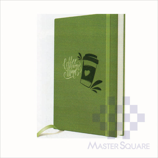 Spring Leaf Hardbound Bookbind Notebook 148 X 210 Mm 120lvs Coffee Design 4-Master Square