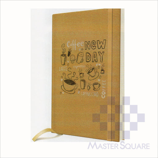 Spring Leaf Hardbound Bookbind Notebook 148 X 210 Mm 120lvs Coffee Design 5-Master Square