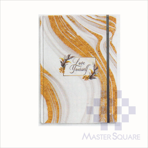 Spring Leaf Hardbound Bookbind Notebook 148 X 210 Mm 120lvs Marble Notes Design 5-Master Square