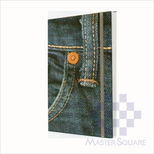 Spring Leaf Hardbound Bookbind Notebook 148 X 210 Mm 120lvs Denim Design 1-Master Square