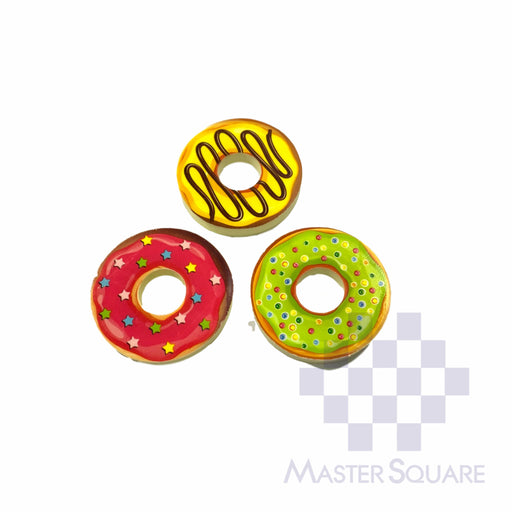 Pencil Eraser Doughnuts Approx Diameter 4 Cm Pack Of 3 Pink, Yellow, Mint-Master Square