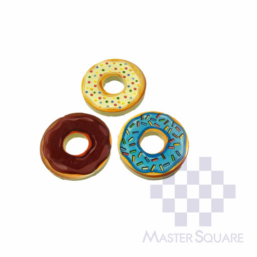 Pencil Eraser Doughnuts Approx Diameter 4 Cm Pack Of 3 Choco, Blue, Cream-Master Square