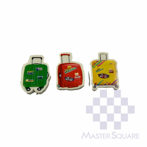Pencil Eraser Travel Bag Approx Size 4.5 X 3 Cm Pack Of 3 Green,red,yellow-Master Square