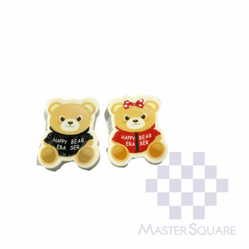 Pencil Eraser Bears Approx Size 4.5 X 3 Cm Pack Of 2-Master Square