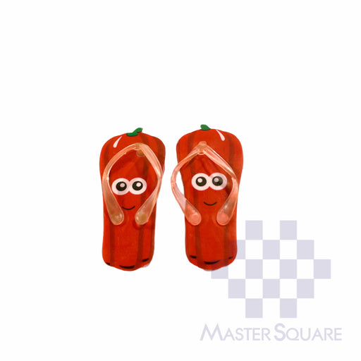 Pencil Eraser Slippers Approx Size 5 X 5 Cm Pack Of 2 Red-Master Square