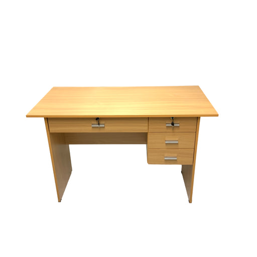 Laminated Desk Beech H737 X W1207 X D598 Mm-Master Square