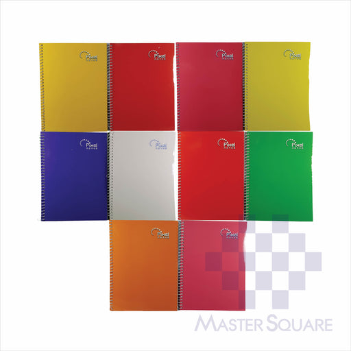 Notebook Spiral 80lvs Pixel Notes Design Pack Of 10-Master Square