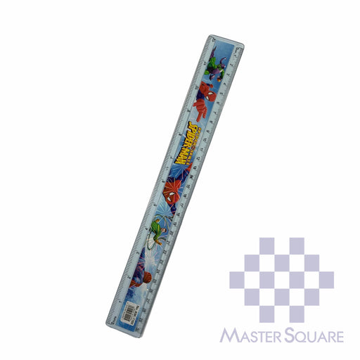 Character Straight Rule Plastic 12 In Spiderman-Master Square