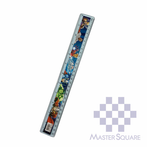 Character Straight Rule Plastic 12 In Avengers-Master Square