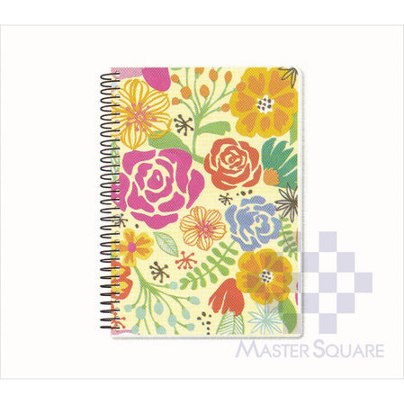 Spring Leaf Spiral Notebook 6 X 8.5 In 80 Lvs Spring Blooms Design 6-Master Square