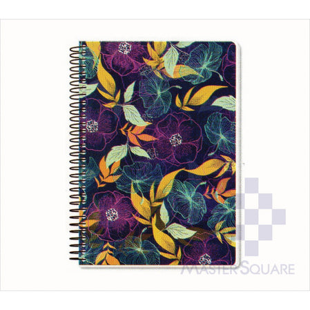 Spring Leaf Spiral Notebook 6 X 8.5 In 80 Lvs Spring Blooms Design 7-Master Square