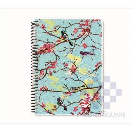 Spring Leaf Spiral Notebook 6 X 8.5 In 80 Lvs Spring Blooms Design 8-Master Square