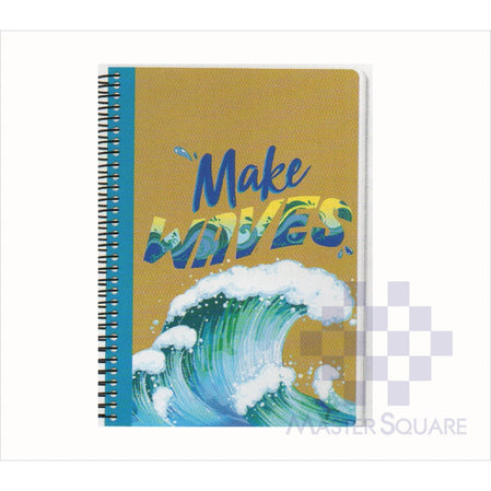 Spring Leaf Spiral Notebook 6 X 8.5 In 80 Lvs Craft Notes Design 1-Master Square
