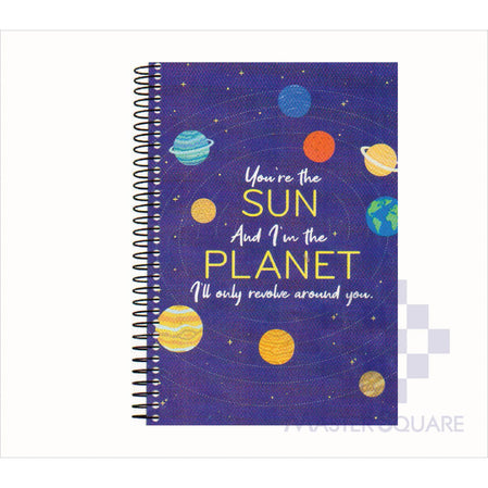 Spring Leaf Spiral Notebook 6 X 8.5 In 80 Lvs Express Pick Up Lines Design 3-Master Square