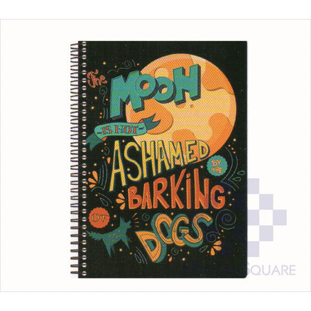 Spring Leaf Spiral Notebook 6 X 8.5 In 80 Lvs Black Book Design 4-Master Square