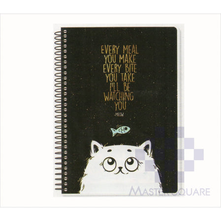 Spring Leaf Spiral Notebook 6 X 8.5 In 80 Lvs Black Book Design 6-Master Square