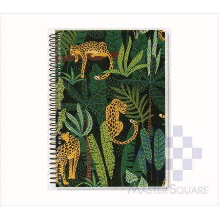 Spring Leaf Spiral Notebook 6 X 8.5 In 80 Lvs Black Book Design 8-Master Square
