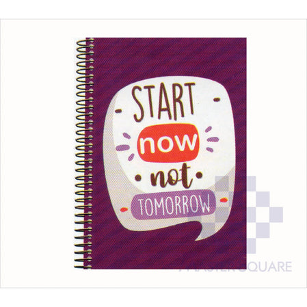 Spring Leaf Spiral Notebook 6 X 8.5 In 80 Lvs Handbook Design 8-Master Square