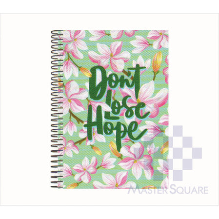 Spring Leaf Spiral Notebook 6 X 8.5 In 80 Lvs Inspire Design 7-Master Square