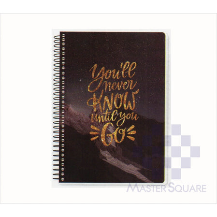 Spring Leaf Spiral Notebook 6 X 8.5 In 80 Lvs Brightside Design 3-Master Square