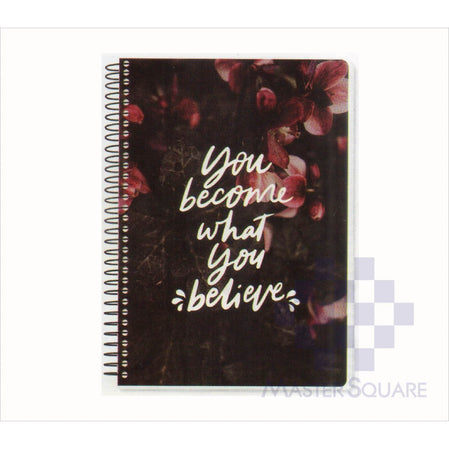 Spring Leaf Spiral Notebook 6 X 8.5 In 80 Lvs Brightside Design 7-Master Square