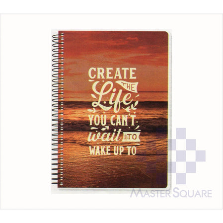 Spring Leaf Spiral Notebook 6 X 8.5 In 80 Lvs Brightside Design 8-Master Square