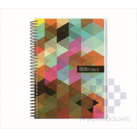 Spring Leaf Spiral Notebook 6 X 8.5 In 80 Lvs Mixprints Design 1-Master Square