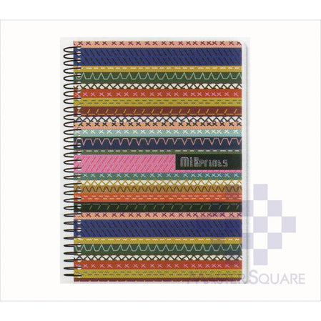 Spring Leaf Spiral Notebook 6 X 8.5 In 80 Lvs Mixprints Design 2-Master Square