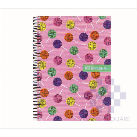 Spring Leaf Spiral Notebook 6 X 8.5 In 80 Lvs Mixprints Design 7-Master Square