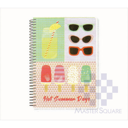 Spring Leaf Spiral Notebook 6 X 8.5 In 80 Lvs Summer Lovin Design 1-Master Square