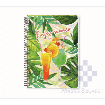 Spring Leaf Spiral Notebook 6 X 8.5 In 80 Lvs Summer Lovin Design 2-Master Square