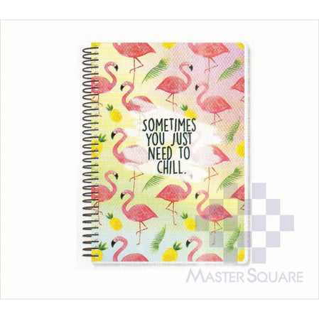 Spring Leaf Spiral Notebook 6 X 8.5 In 80 Lvs Summer Lovin Design 3-Master Square