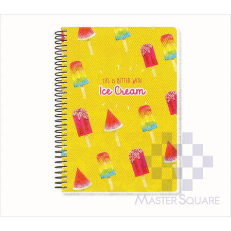 Spring Leaf Spiral Notebook 6 X 8.5 In 80 Lvs Summer Lovin Design 4-Master Square